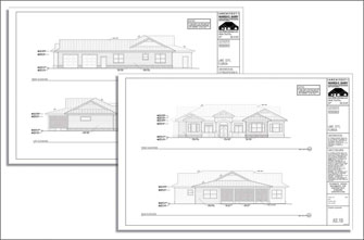 Custom Home Plans Design Process, residential exterior elevations, review documents